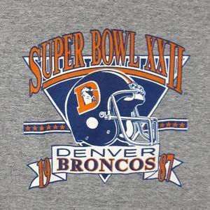 Vintage 80s Denver Broncos Super Bowl T Shirt